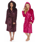 Forever Dreaming Ladies Supersoft Plain Hooded Robe Dressing Gown