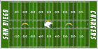 San Diego Chargers Electric Football Vinyl Field Cover Wall Art $79.99 USD