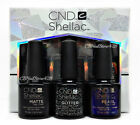 Cnd Shellac SMALL size  ALLURING TRILOGY Top Coat Collection -Pick Any Top .25oz