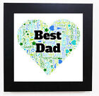 WORD ART POSTER GIFT PERSONALISED - DAD DADDY FATHER'S DAY GIFT. MANY DESIGNS