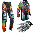 New Wulfsport Multicoloured Kids Motocross Pant Jersy Gloves Bundle Kit Child PW