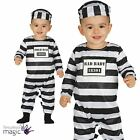 Baby Infant Childs Halloween Prisoner Fancy Dress Costume Outfit Hat Bad Convict