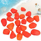 20-60 Piece Undrilled Sea Beach Glass Beads Red Jewelry Use Pendant Decor 8-12mm