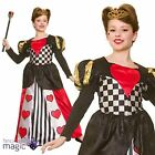 Girls Queen Of Hearts Fairy Tale Book Week Halloween Fancy Dress Costume Crown