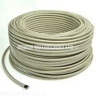 1 Meter x PTFE Teflon Stainless Braided Hose PICK SIZE Oil Fuel Petrol Coolant