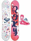 New Roxy 2018 Poppy Girl's Snowboard Package With Bindings Youth fits 30-90 lbs