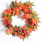 Pine Fruit Maple Leaf Fall Door Wreath Door Wall Ornament Thanksgiving Day Gift