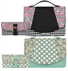 NEW Ruby Shoo Belfast Bag & Como Purse Mint / Black Floral