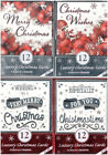 Pack Of 12 Luxury Christmas Cards & Envelopes - 2 Assorted Designs in A Pack
