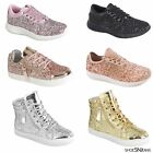 natinol geographic kids - New Fashion Kids Girls Glitter Sneakers Athletic Running Walking Lace Up Shoes