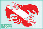 LOBSTER Shaped DIVE Flag Vinyl Decal #1 Car Truck Sticker SCUBA Diving Decal