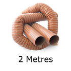 Orange 2 Metres Silicone Ducting Flexible Hose Hot Or Cold Car Pipe Air Transfer
