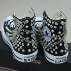 Genuine CONVERSE All-star with studs & chains Sneakers Sheos Black