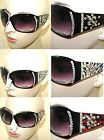 MADE WITH SWAROVSKI ELEMENTS CRYSTAL DESIGN BLACK UV400 SUNGLASSES
