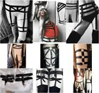 New Black Caged Erotic Stretch Leg Harness / Suspender Leg Statements All Sizes