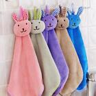 Nursery Soft Plush Fabric Cartoon Animal Hanging Towel Washcloth Hand Towel - S