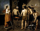 Neoclasical Spanish Art Print: The Forge of Vulcan by Diego Velazquez