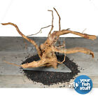 Spider Wood Aquarium Driftwood Mounted On Slate Natural Spiderwood (Choose Size)