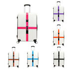 Useful Adjustable Luggage Straps with Lock Suitcase Travel Baggage Belt Cross