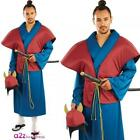 Mens Samurai Fancy Dress Costume League Of Assasins Monk Outfit New