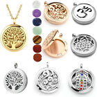 316L Stainless Steel 7 Chakra Hollow Openable Locket Pendant Necklace Gift
