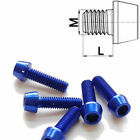 Aluminium Screw M6 x 10 - 50 Conical Din 912 Al7075 Blue
