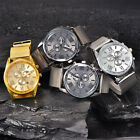Luxury Men Date Watch Stainless steel Leather Military Analog Quartz Watches NEW