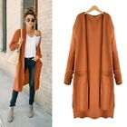 Women Girl Vintage Outwear Knitted Long Sleeve Cardigan Sweater Tops Coat