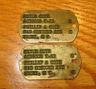 WW2 DOG TAGS NOTCHED STYLE US Army Military Pair ID IdentificationPersonal Gear - 4726