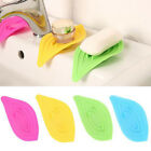 Leaf-Shaped Soap Dish Storage Sink Sponge Antiskid Soap Box Drain Holder Simple