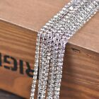 Rhinestone Trims Close Claw Chain Cup Crystal Sew On Glass Brass alloy 2mm 10M