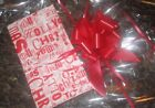 HAMPER WRAP CHRISTMAS CELLOPHANE TISSUE BOW BLUE RED PINK SILVER GOLD