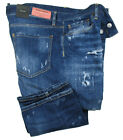 DSQUARED2 Jeans | Slim Jean SIZE 50 navy blue distressed