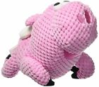 GoDog FLYING PIG Squeaker Dog Toy w/Chew Guard SMALL