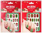 MOMENTUM 20pc CHRISTMAS/HOLIDAY Appliques METALLIC NAIL TATTOOS New *YOU CHOOSE*