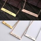 DIY Personalized Custom Engraved Stainless Steel Pendant Necklace Family Gift