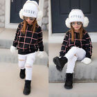 WINTER TODDLER KID BABY GIRL T-SHIRT TOPS+PANTS/DENIM OUTFITS CLOTHES 2PCS SET