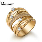 Viennois Fashion New Gold Plated Special design Ring  Jewelry Size7 8