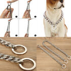 Silver Dog Choke Chain Stainless Steel 17mm Pet Training Collar 14-26''