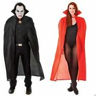 Adult Halloween Vampire Dracula Witch Victorian Cape Costume Padded Collar 142cm