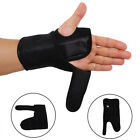 FAUX LEATHER BREATHABLE WRIST BRACE SUPPORT CARPAL TUNNEL HAND SPLINT ARTHRITIS