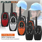 FLOUREON UHF 400-470MHz Handheld 8Ch 2 Way Radio Walkie Talkies 3KM Interphone​