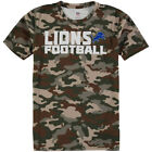 Detroit Lions Outerstuff Youth Camo Sublimated Synthetic T-Shirt