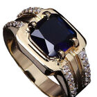 Upscale Zircon Fashion Sapphire Square 1Pcs Ring