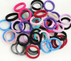 100PCs Women Lady Girl Cosy Colorful High Elastic Hair Ring Hairband Hair Towel