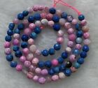 """Pink Blue Agate Faceted Round Loose Beads 4mm 6mm 8mm 10mm 12mm 14mm 14"""""""