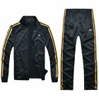 Men TrackSuit Jogging Jacket Sport Suit Sets Trousers спортивная одежда Strips