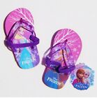DISNEY FROZEN Flip Flops w/Optional Sunglasses Beach Sandals NWT Toddler Sz. 7/8