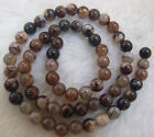 """Brown Ice Fire Agate Round Loose Beads 4mm 6mm 8mm 10mm 15"""""""