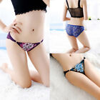 Women Sexy Hollow Underwear Panties Flower Embroidered Soft Low Rise Briefs Hot